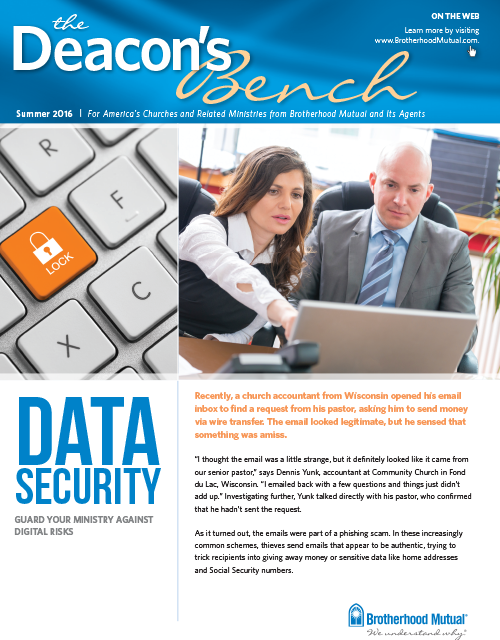 Deacon's Bench - Data Security Issue
