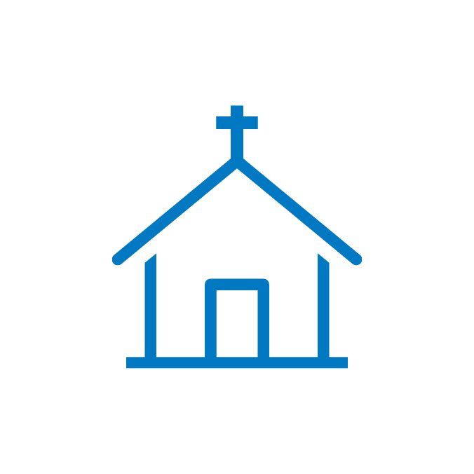 Church icon by Brotherhood Mutual